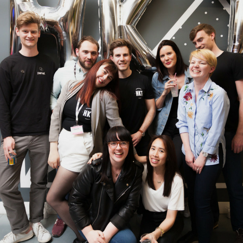 Team Huckletree at Shoreditch's first birthday