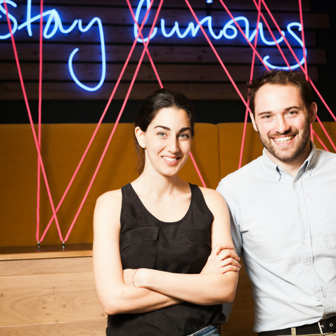 Huckletree co-founders Gabriela Hersham and Andrew Lynch, featured in Forbes Magazine.