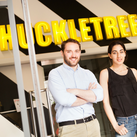 Huckletree co-founders Andrew Lynch and Gabriela Hersham