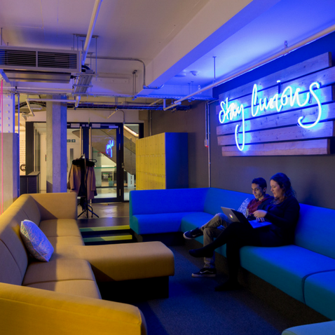 Central London coworking space, Huckletree Shoreditch