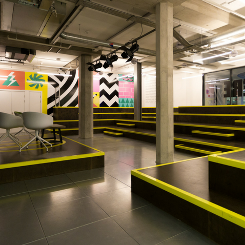 One of Huckletree Shoreditch's event spaces, the Auditorium