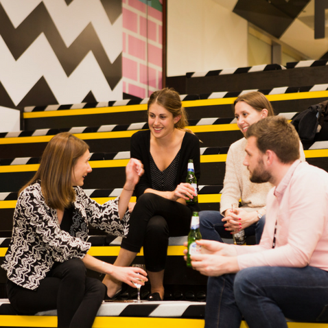 Members celebrating the launch of West London coworking space Huckletree West