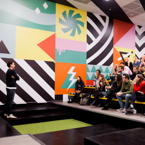 The Auditorium in West London coworking space Huckletree West, White City