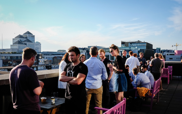 Party at Huckletree D2 Dublin Rooftop Breakout Space