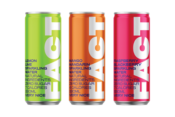 Plant Based: Three canned sparkling beverages