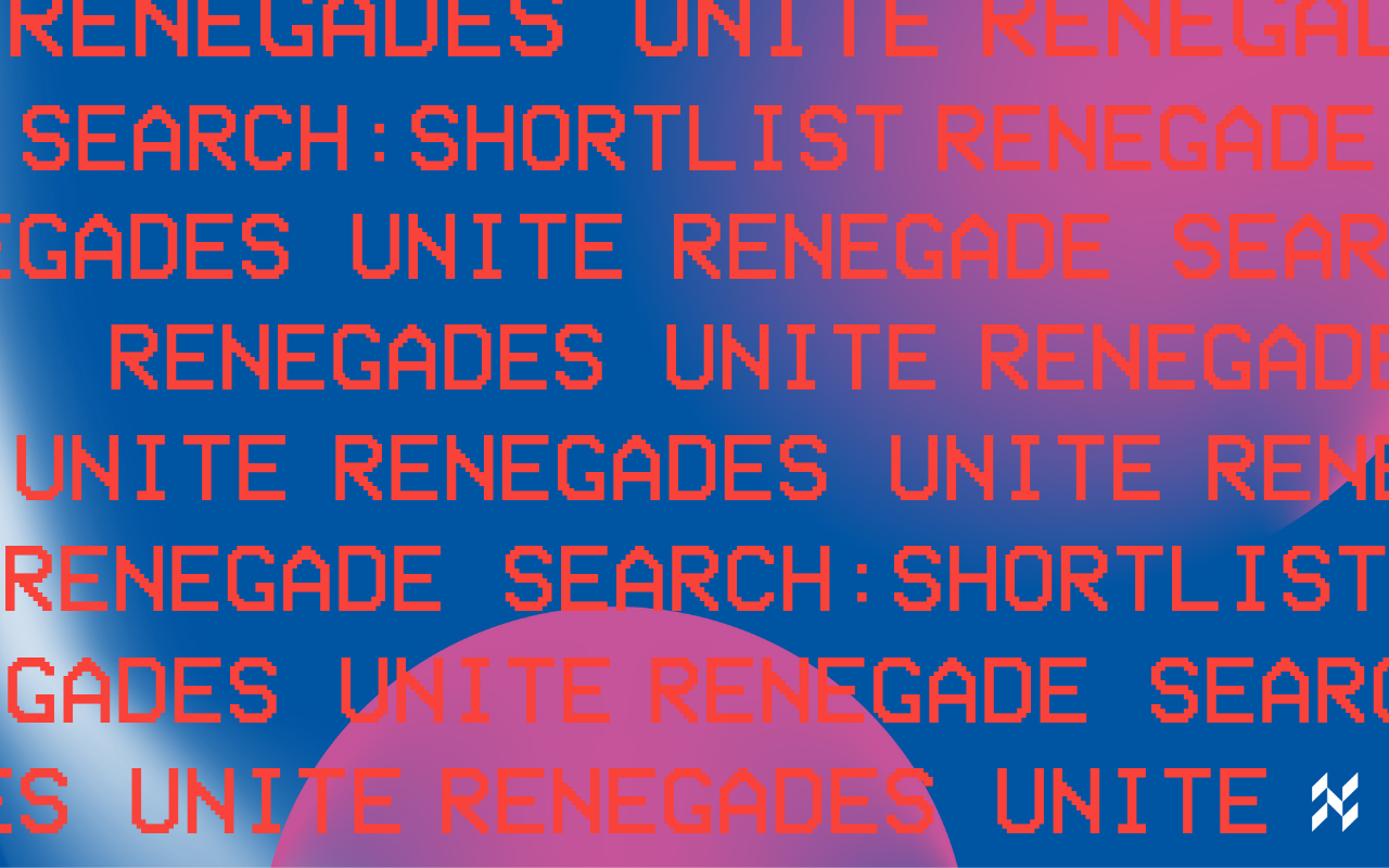 Renegade Search Planets Graphic In Purple and Blue